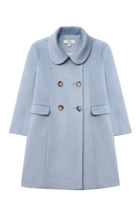 Детское пальто ledi ZHANNA & ANNA голубого цвета, арт. ZALG01062021   Фото 1 (Рукава: Длинные; Стили: Классический; Кросс-КТ: Сезон: демисезон)
