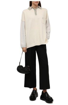 Женские кожаные лоферы LOEWE черного цвета, арт. L814290X31   Фото 2 (Материал внутренний: Натуральная кожа; Подошва: Платформа)