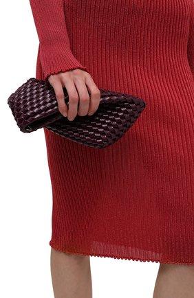 Женский клатч structure small BOTTEGA VENETA фиолетового цвета, арт. 680562/V1GN0 | Фото 2 (Размер: small; Материал: Натуральная кожа; Женское Кросс-КТ: Клатч-клатчи)