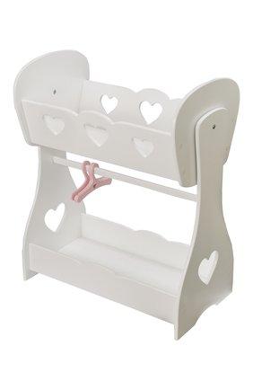 Кроватка для куклы с гардеробной | Фото №1