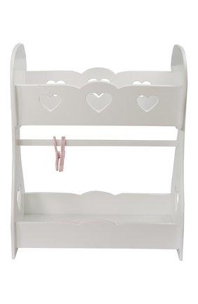 Кроватка для куклы с гардеробной | Фото №2