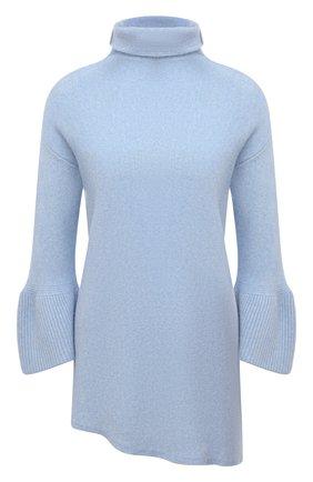 Женский кашемировый свитер GIORGIO ARMANI голубого цвета, арт. 6KAM09/AM26Z | Фото 1 (Рукава: Длинные; Длина (для топов): Удлиненные; Материал внешний: Кашемир, Шерсть; Женское Кросс-КТ: Свитер-одежда; Стили: Кэжуэл)