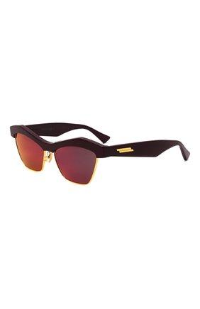 Женские солнцезащитные очки BOTTEGA VENETA красного цвета, арт. 668007/V2331   Фото 1 (Материал: Пластик; Тип очков: С/з; Очки форма: Квадратные)