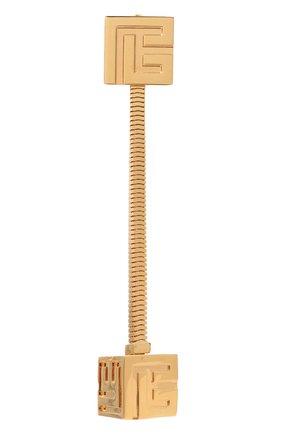 Женские моносерьга BALMAIN золотого цвета, арт. WN0XI063/MLAL | Фото 1 (Кросс-КТ: моносерьга; Материал: Металл)
