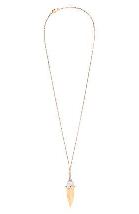 Женская кулон на цепочке CHLOÉ золотого цвета, арт. CHC21AF003CB7 | Фото 1 (Материал: Металл)