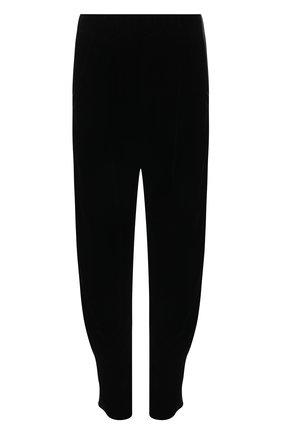 Женские брюки из вискозы и шелка GIORGIO ARMANI черного цвета, арт. 1WHPP0IQ/T01FD | Фото 1 (Материал внешний: Вискоза; Женское Кросс-КТ: Брюки-одежда; Длина (брюки, джинсы): Стандартные; Стили: Романтичный; Силуэт Ж (брюки и джинсы): Джоггеры)