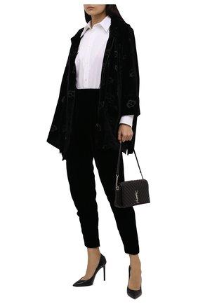 Женские брюки из вискозы и шелка GIORGIO ARMANI черного цвета, арт. 1WHPP0IQ/T01FD | Фото 2 (Материал внешний: Вискоза; Женское Кросс-КТ: Брюки-одежда; Длина (брюки, джинсы): Стандартные; Стили: Романтичный; Силуэт Ж (брюки и джинсы): Джоггеры)