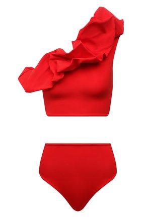 Женский раздельный купальник MAYGEL CORONEL красного цвета, арт. BK-089 | Фото 1 (Материал внешний: Синтетический материал; Длина Ж (юбки, платья, шорты): Мини; Женское Кросс-КТ: Раздельные купальники)