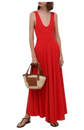 Женское платье MAYGEL CORONEL красного цвета, арт. VT-002 | Фото 2 (Длина Ж (юбки, платья, шорты): Макси; Материал подклада: Синтетический материал; Рукава: Короткие; Материал внешний: Синтетический материал; Женское Кросс-КТ: Платье-одежда; Стили: Романтичный; Случай: Повседневный)