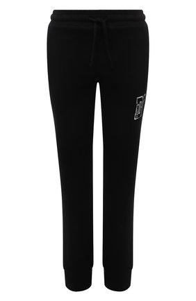 Женские хлопковые джоггеры DOLCE & GABBANA черного цвета, арт. FTBX5T/G7BEQ | Фото 1 (Материал внешний: Хлопок, Синтетический материал; Длина (брюки, джинсы): Стандартные; Женское Кросс-КТ: Джоггеры - брюки; Стили: Спорт-шик; Силуэт Ж (брюки и джинсы): Джоггеры)