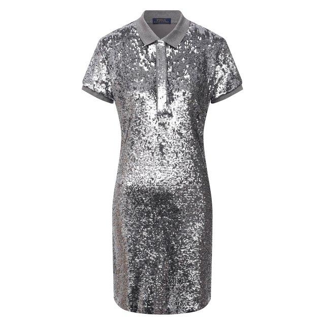 Платье с пайетками Polo Ralph Lauren