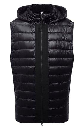 Мужской утепленный жилет BOGNER черного цвета, арт. 38346549 | Фото 1 (Материал внешний: Синтетический материал; Длина (верхняя одежда): Короткие; Кросс-КТ: Куртка; Стили: Спорт-шик; Big sizes: Big Sizes)