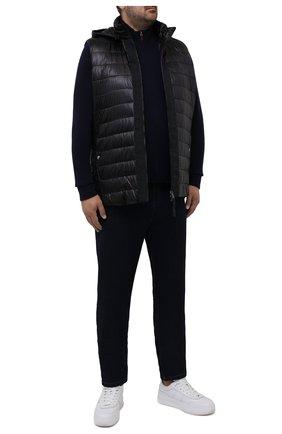 Мужской утепленный жилет BOGNER черного цвета, арт. 38346549 | Фото 2 (Материал внешний: Синтетический материал; Длина (верхняя одежда): Короткие; Кросс-КТ: Куртка; Стили: Спорт-шик; Big sizes: Big Sizes)