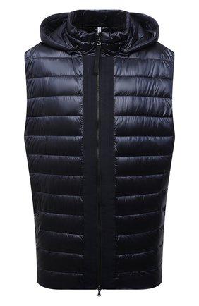 Мужской утепленный жилет BOGNER темно-синего цвета, арт. 38346549 | Фото 1 (Материал внешний: Синтетический материал; Длина (верхняя одежда): Короткие; Кросс-КТ: Куртка; Стили: Спорт-шик; Big sizes: Big Sizes)