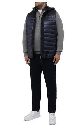 Мужской утепленный жилет BOGNER темно-синего цвета, арт. 38346549 | Фото 2 (Материал внешний: Синтетический материал; Длина (верхняя одежда): Короткие; Кросс-КТ: Куртка; Стили: Спорт-шик; Big sizes: Big Sizes)