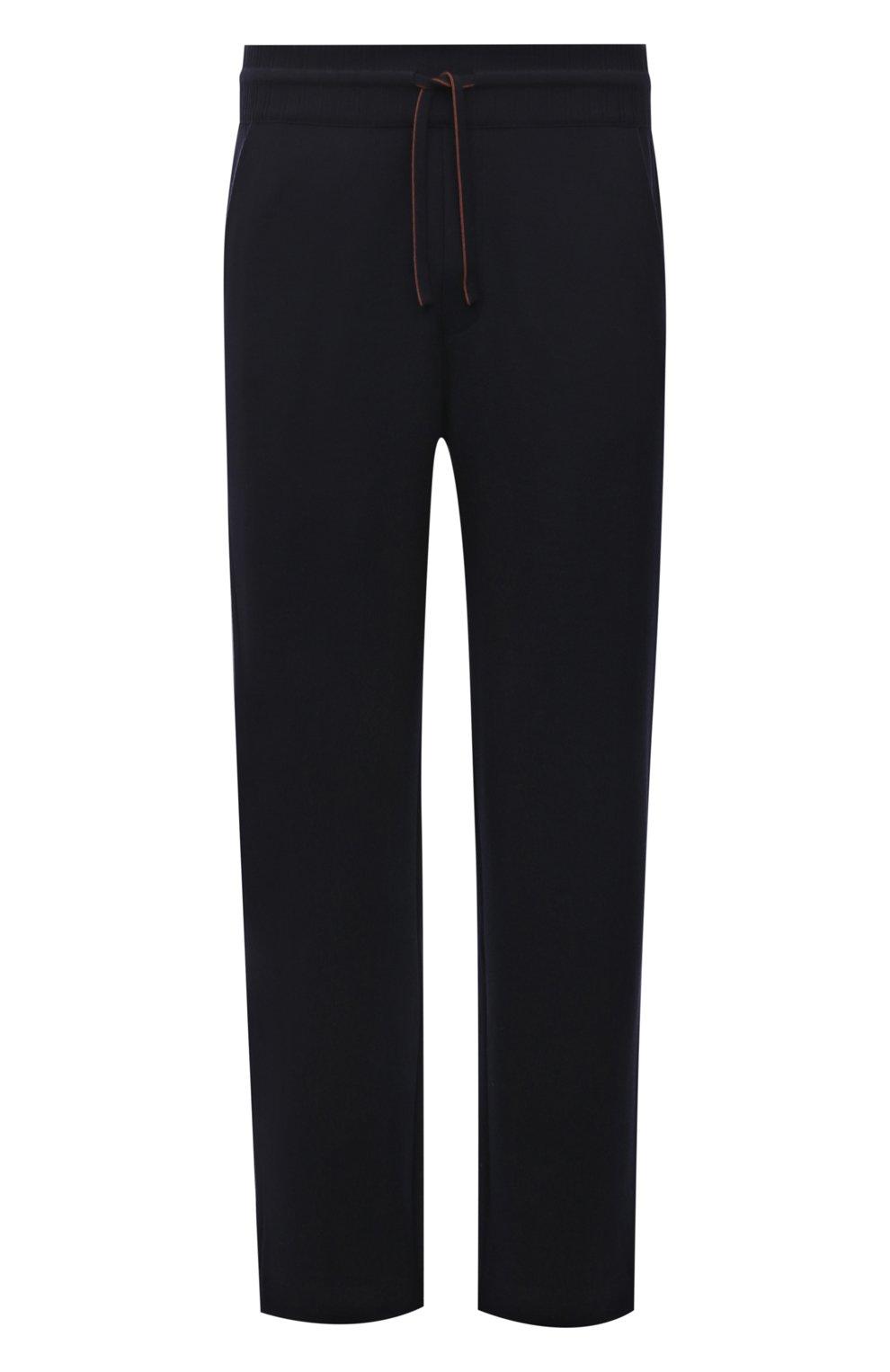 Мужские шерстяные брюки LORO PIANA темно-синего цвета, арт. FAL5416 | Фото 1 (Материал внешний: Шерсть; Длина (брюки, джинсы): Стандартные; Случай: Повседневный; Стили: Кэжуэл)