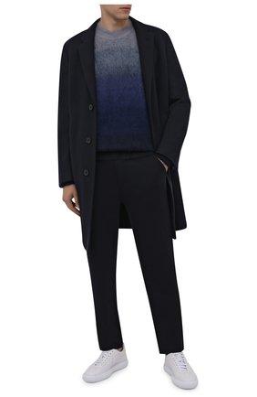 Мужские шерстяные брюки LORO PIANA темно-синего цвета, арт. FAL5416 | Фото 2 (Материал внешний: Шерсть; Длина (брюки, джинсы): Стандартные; Случай: Повседневный; Стили: Кэжуэл)