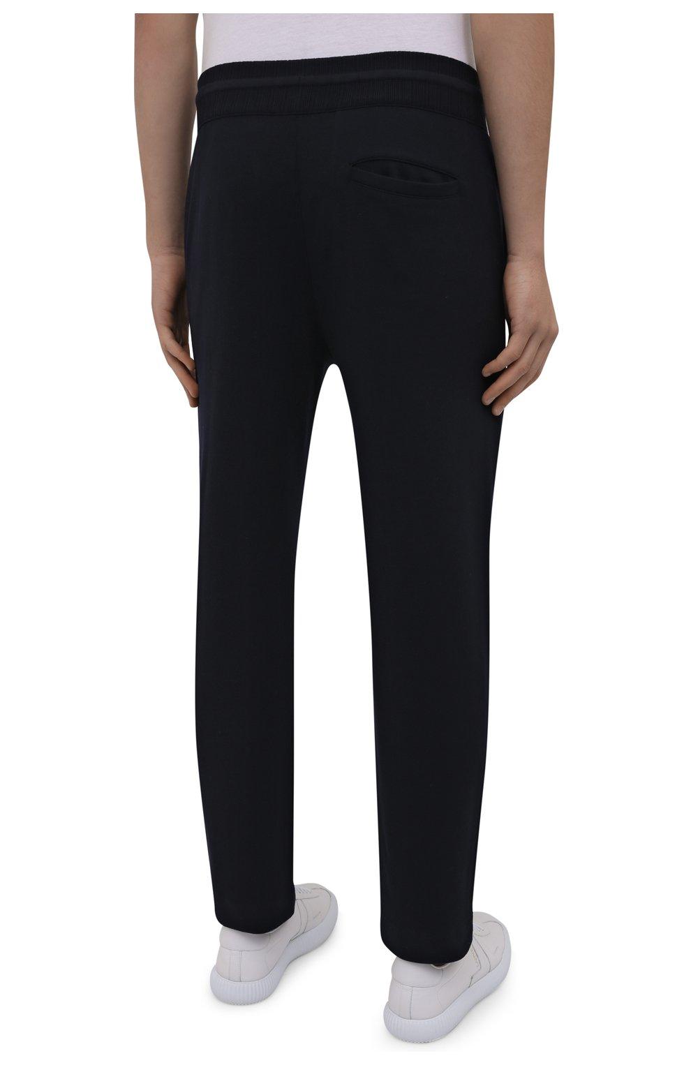 Мужские шерстяные брюки LORO PIANA темно-синего цвета, арт. FAL5416 | Фото 4 (Материал внешний: Шерсть; Длина (брюки, джинсы): Стандартные; Случай: Повседневный; Стили: Кэжуэл)