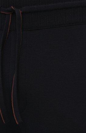 Мужские шерстяные брюки LORO PIANA темно-синего цвета, арт. FAL5416 | Фото 5 (Материал внешний: Шерсть; Длина (брюки, джинсы): Стандартные; Случай: Повседневный; Стили: Кэжуэл)