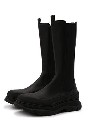 Мужские кожаные челси ALEXANDER MCQUEEN черного цвета, арт. 667813/WHZ66 | Фото 1 (Материал внутренний: Натуральная кожа; Подошва: Массивная)