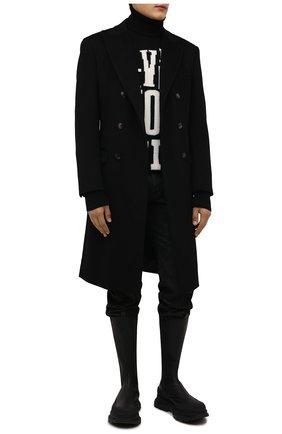 Мужские кожаные челси ALEXANDER MCQUEEN черного цвета, арт. 667813/WHZ66 | Фото 2 (Материал внутренний: Натуральная кожа; Подошва: Массивная)