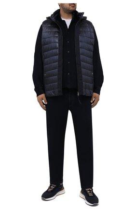 Мужская хлопковая рубашка PAUL&SHARK темно-синего цвета, арт. 11313177/C00 | Фото 2 (Рукава: Длинные; Материал внешний: Хлопок; Длина (для топов): Удлиненные; Случай: Повседневный; Рубашки М: Regular Fit; Манжеты: На пуговицах; Принт: Однотонные; Воротник: Button down; Стили: Кэжуэл; Big sizes: Big Sizes)