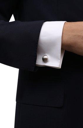 Мужские запонки LANVIN серебряного цвета, арт. 9044/3 | Фото 2 (Стили: Классический; Материал: Металл)