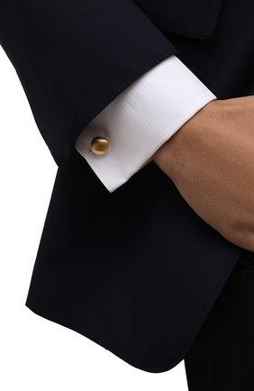 Мужские запонки LANVIN золотого цвета, арт. 9044/9 | Фото 2 (Стили: Классический; Материал: Металл)