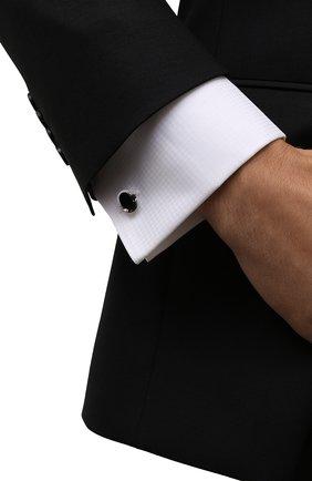 Мужские запонки LANVIN серебряного цвета, арт. 9527/2 | Фото 2 (Стили: Классический; Материал: Металл)