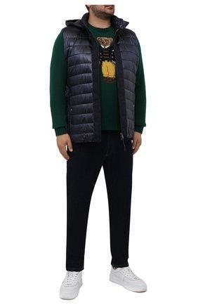 Мужской шерстяной свитер POLO RALPH LAUREN зеленого цвета, арт. 711850566/PRL BS | Фото 2 (Длина (для топов): Стандартные; Материал внешний: Шерсть; Рукава: Длинные; Мужское Кросс-КТ: Свитер-одежда; Принт: С принтом; Стили: Кэжуэл; Big sizes: Big Sizes)