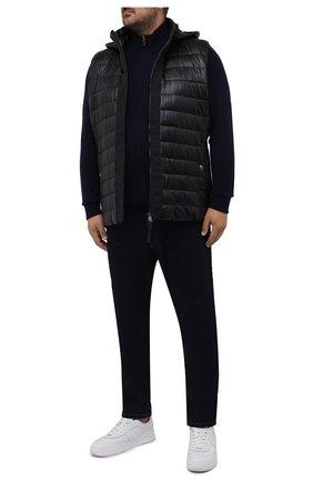 Мужской шерстяной кардиган POLO RALPH LAUREN темно-синего цвета, арт. 711716745/PRL BS | Фото 2 (Материал внешний: Шерсть; Рукава: Длинные; Длина (для топов): Стандартные; Мужское Кросс-КТ: Кардиган-одежда; Big sizes: Big Sizes; Стили: Кэжуэл)