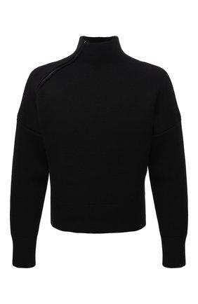 Мужской шерстяной свитер JACQUEMUS черного цвета, арт. 216KN103-2080 | Фото 1 (Рукава: Длинные; Материал внешний: Синтетический материал, Шерсть; Длина (для топов): Стандартные; Мужское Кросс-КТ: Свитер-одежда; Принт: Без принта; Стили: Минимализм)