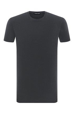 Мужская футболка TOM FORD хаки цвета, арт. BY229/TFJ950 | Фото 1 (Длина (для топов): Стандартные; Материал внешний: Лиоцелл, Хлопок; Рукава: Короткие; Принт: Без принта; Стили: Кэжуэл)