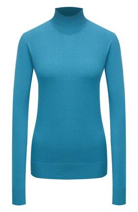 Женская водолазка из вискозы BOTTEGA VENETA синего цвета, арт. 672720/V09V0 | Фото 1 (Длина (для топов): Стандартные; Материал внешний: Вискоза; Рукава: Длинные; Женское Кросс-КТ: Водолазка-одежда; Стили: Кэжуэл)