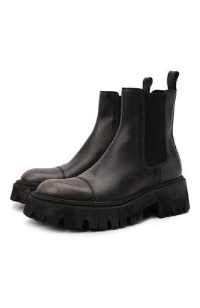Мужские кожаные челси tractor BALENCIAGA черного цвета, арт. 670988/WBCP1 | Фото 1 (Материал внутренний: Натуральная кожа; Мужское Кросс-КТ: Сапоги-обувь, Челси-обувь; Подошва: Массивная; Каблук высота: Высокий)