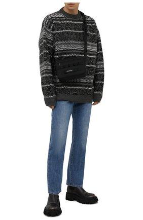 Мужские кожаные челси tractor BALENCIAGA черного цвета, арт. 670988/WBCP1 | Фото 2 (Материал внутренний: Натуральная кожа; Мужское Кросс-КТ: Сапоги-обувь, Челси-обувь; Подошва: Массивная; Каблук высота: Высокий)