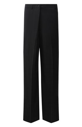 Мужские шерстяные брюки BALENCIAGA темно-серого цвета, арт. 675444/TKT30   Фото 1 (Материал внешний: Шерсть; Материал подклада: Купро; Длина (брюки, джинсы): Стандартные; Случай: Повседневный; Стили: Минимализм)