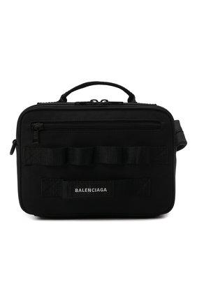 Мужская текстильная сумка army BALENCIAGA черного цвета, арт. 669538/2BKPI   Фото 1 (Материал: Текстиль; Ремень/цепочка: На ремешке)