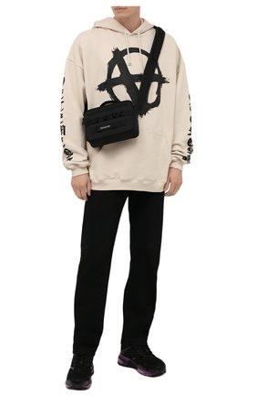 Мужская текстильная сумка army BALENCIAGA черного цвета, арт. 669538/2BKPI   Фото 2 (Материал: Текстиль; Ремень/цепочка: На ремешке)