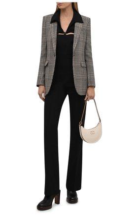 Женские кожаные сабо irenn CHLOÉ черного цвета, арт. CHC21A467T0   Фото 2 (Каблук высота: Высокий; Подошва: Платформа; Материал внутренний: Натуральная кожа; Каблук тип: Устойчивый)