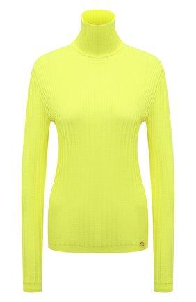 Женская шерстяная водолазка BALMAIN желтого цвета, арт. WF0KH010/K316 | Фото 1 (Рукава: Длинные; Материал внешний: Шерсть; Длина (для топов): Стандартные; Стили: Гламурный; Женское Кросс-КТ: Водолазка-одежда)