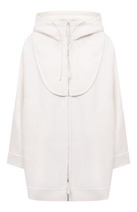 Женская шерстяная куртка GIORGIO ARMANI белого цвета, арт. 1WH0C06A/T0076 | Фото 1 (Рукава: Длинные; Длина (верхняя одежда): Короткие; Материал внешний: Шерсть; Стили: Минимализм; Кросс-КТ: Куртка)