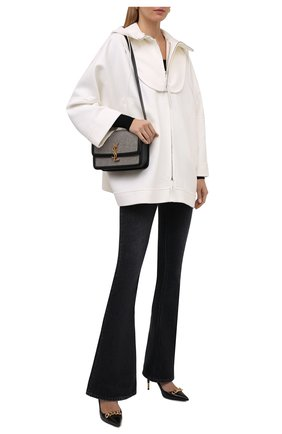 Женская шерстяная куртка GIORGIO ARMANI белого цвета, арт. 1WH0C06A/T0076 | Фото 2 (Рукава: Длинные; Длина (верхняя одежда): Короткие; Материал внешний: Шерсть; Стили: Минимализм; Кросс-КТ: Куртка)