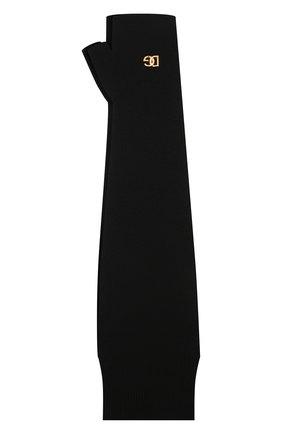 Мужские шерстяные митенки DOLCE & GABBANA черного цвета, арт. GXH28T/JBVL1 | Фото 1 (Материал: Шерсть; Кросс-КТ: Трикотаж)
