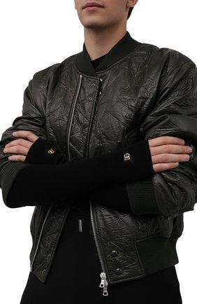 Мужские шерстяные митенки DOLCE & GABBANA черного цвета, арт. GXH28T/JBVL1 | Фото 2 (Материал: Шерсть; Кросс-КТ: Трикотаж)