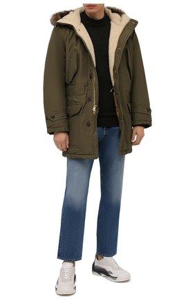 Мужская утепленная парка RRL хаки цвета, арт. 782840798 | Фото 2 (Материал внешний: Синтетический материал, Хлопок; Рукава: Длинные; Длина (верхняя одежда): До середины бедра; Материал подклада: Синтетический материал; Стили: Милитари; Кросс-КТ: Куртка)