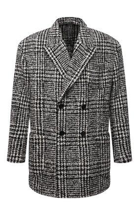 Мужской шерстяной бушлат DOLCE & GABBANA светло-серого цвета, арт. G2PU2T/FQMIF | Фото 1 (Длина (верхняя одежда): До середины бедра; Рукава: Длинные; Материал подклада: Вискоза; Материал внешний: Шерсть; Мужское Кросс-КТ: пальто-верхняя одежда; Стили: Кэжуэл)