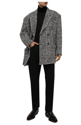 Мужской шерстяной бушлат DOLCE & GABBANA светло-серого цвета, арт. G2PU2T/FQMIF | Фото 2 (Длина (верхняя одежда): До середины бедра; Рукава: Длинные; Материал подклада: Вискоза; Материал внешний: Шерсть; Мужское Кросс-КТ: пальто-верхняя одежда; Стили: Кэжуэл)