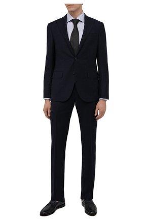 Мужская хлопковая сорочка ETON серого цвета, арт. 1000 02346 | Фото 2 (Материал внешний: Хлопок; Рукава: Длинные; Случай: Формальный; Рубашки М: Slim Fit; Манжеты: На пуговицах; Воротник: Акула; Стили: Классический; Принт: С принтом)