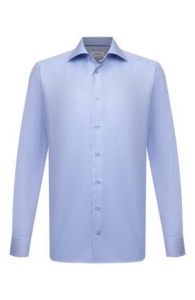 Мужская хлопковая сорочка ETON голубого цвета, арт. 1000 02346 | Фото 1 (Материал внешний: Хлопок; Рукава: Длинные; Случай: Формальный; Рубашки М: Slim Fit; Манжеты: На пуговицах; Воротник: Акула; Стили: Классический; Принт: С принтом)